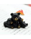 刺蝟課堂 黑熊微景觀擺飾