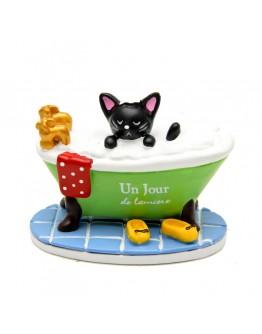 黑貓浴缸泡澡微景觀創意花插